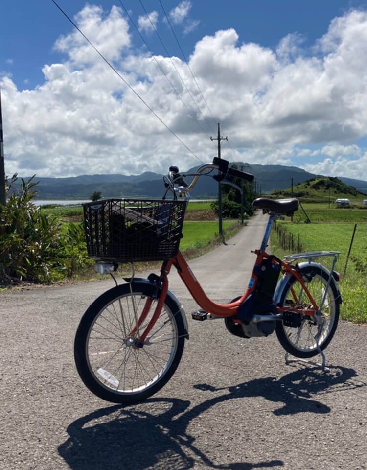 豊富なレンタル用品、レンタバイクは島内最安値!